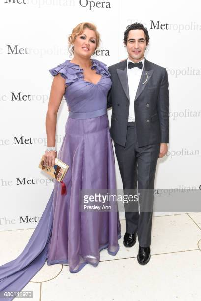 Zac Posen and Anna Netrebko attend Metropolitan Opera 50th Anniversary Gala at Lincoln Center on May 7 2017 in New York City