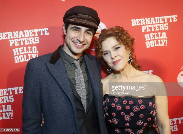 Zac Posen and Bernadette Peters pose at Bernadette Peters Opening Night celebration for 'Hello Dolly' on Broadway at Sardis on February 22 2018 in...