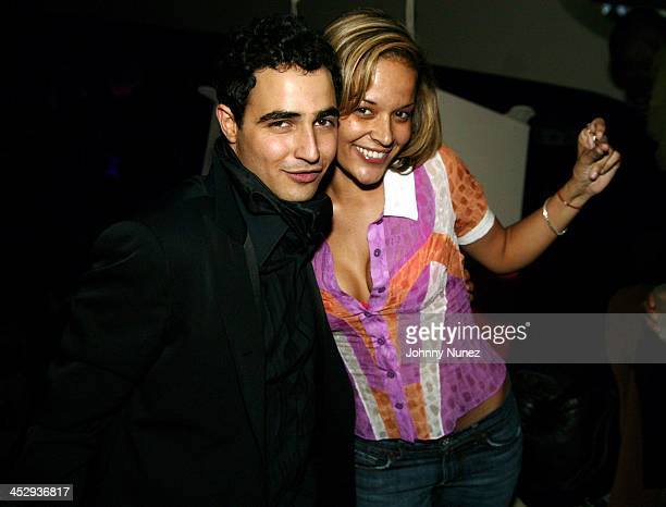 Zac Posen and Capricorn Clark during Olympus Fashion Week Fall 2005 Zac Posen After Party Hosted By Sean P Diddy Combs at Glo in New York City New...