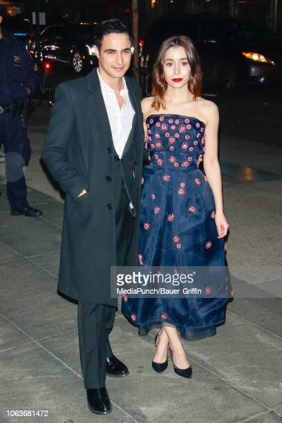 Zac Posen and Cristin Milioti are seen at The Museum of Modern Art Film Benefit Tribute to Martin Scorsese on November 19 2018 in New York City