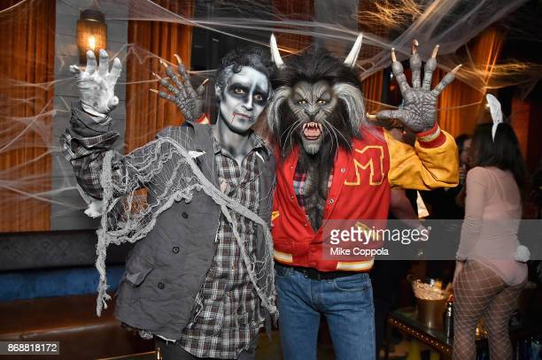 Zac Posen and Heidi Klum attend Heidi Klum's 18th Annual Halloween Party presented by Party City and SVEDKA Vodka at Magic Hour Rooftop Bar Lounge at...