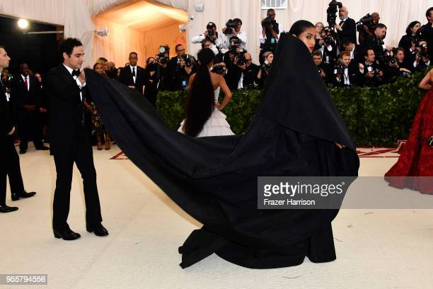Zac Posen and Imaan Hammam attend the Heavenly Bodies Fashion The Catholic Imagination Costume Institute Gala at The Metropolitan Museum of Art on...