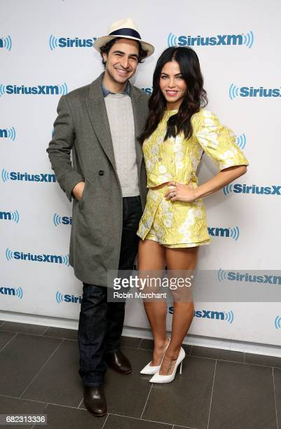 Zac Posen and Jenna Dewan Tatum visits at SiriusXM Studios on May 12, 2017 in New York City.