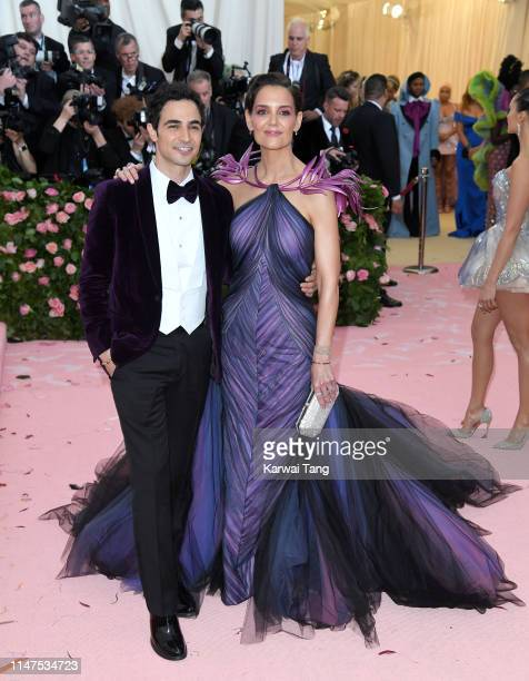Zac Posen and Katie Holmes arrive for the 2019 Met Gala celebrating Camp: Notes on Fashion at The Metropolitan Museum of Art on May 06, 2019 in New...