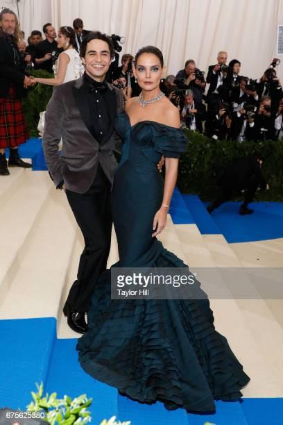 Zac Posen and Katie Holmes attend Rei Kawakubo/Commes Des Garcons Art of the InBetween the 2017 Costume Institute Benefit at Metropolitan Museum of...
