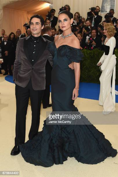 Zac Posen and Katie Holmes attend the 'Rei Kawakubo/Comme des Garcons Art Of The InBetween' Costume Institute Gala at Metropolitan Museum of Art on...