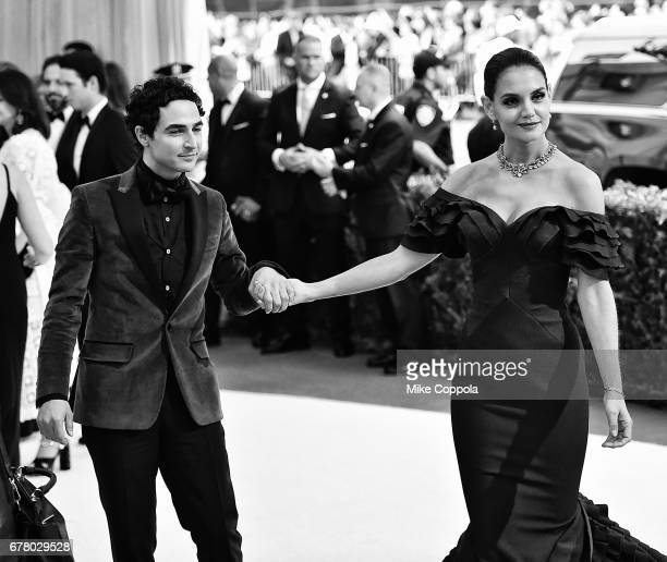 Zac Posen and Katie Holmes attend the Rei Kawakubo/Comme des Garcons Art Of The InBetween Costume Institute Gala at Metropolitan Museum of Art on May...