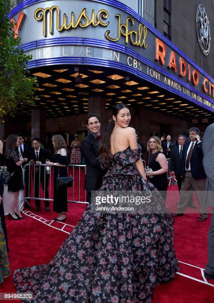 Zac Posen and Liu Wne attend the 2017 Tony Awards at Radio City Music Hall on June 11 2017 in New York City