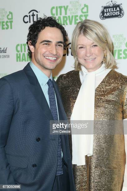 Zac Posen and Martha Stewart attends City Harvest's 23rd Annual Gala at Cipriani 42nd Street on April 25 2017 in New York City