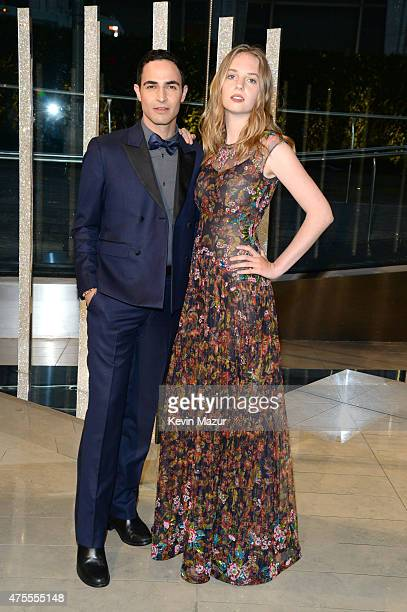 Zac Posen and Maya ThurmanHawke attends the 2015 CFDA Fashion Awards at Alice Tully Hall at Lincoln Center on June 1 2015 in New York City