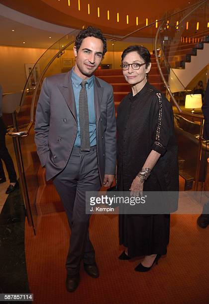 Zac Posen and Susan Posen attend the after party for Florence Foster Jenkins at Brasserie 8 1/2 on August 9 2016 in New York City