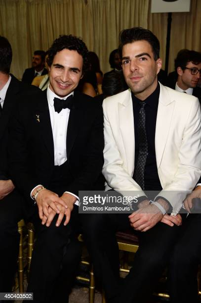 Zac Posen and Zachary Quinto attend the amfAR Inspiration Gala New York 2014 at The Plaza Hotel on June 10 2014 in New York City