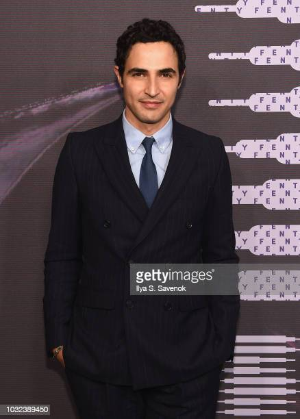 Zac Posen arrives at the Savage X Fenty Fall/Winter 2018 fashion show during NYFW at the Brooklyn Navy Yard on September 12 2018 in Brooklyn NY