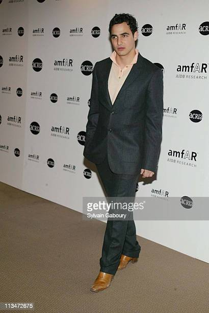 Zac Posen during amfAR and ACRIA Honor Herb Ritts for His Work and Activism at Sotheby's in New York New York United States