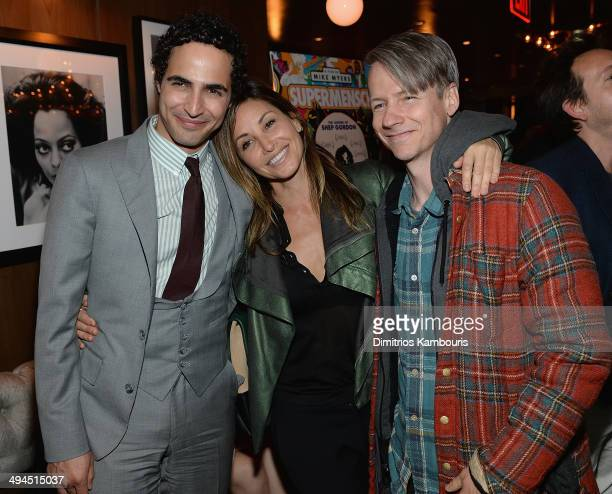 Zac Posen Gina Gershon and John Cameron Mitchell attend the Supermensch The Legend Of Shep Gordon screening at The Wayfarer on May 29 2014 in New...