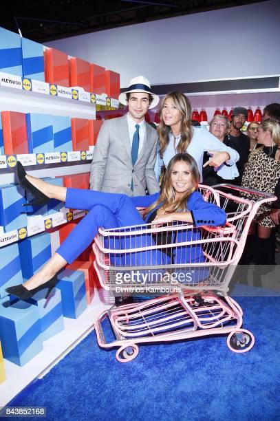 Zac Posen Heidi Klum and Nina Garcia attend the Esmara By Heidi Klum Lidl Fashion Presentation at New York Fashion Week #Letswow at ArtBeam on...