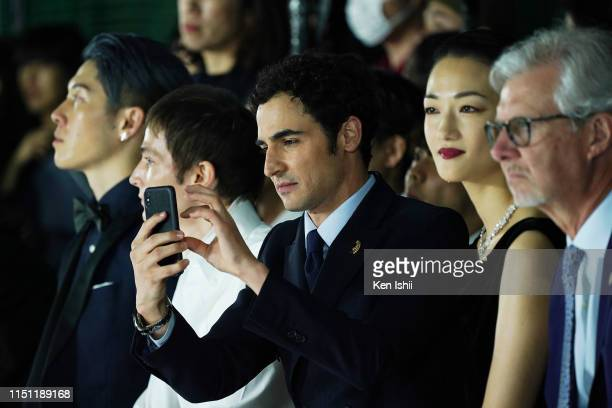 Zac Posen looks on during the Brooks Brothers special runway show celebrating its 40th anniversary in Japan on May 23 2019 in Tokyo Japan