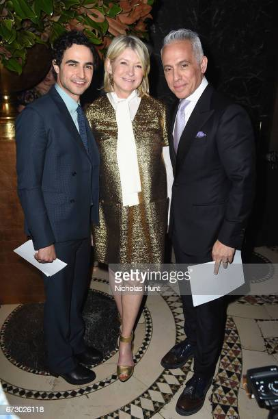 Zac Posen, Martha Stewart, and Geoffrey Zakarian pose backstage at the City Harvest's 23rd Annual Evening Of Practical Magic at Cipriani 42nd Street...