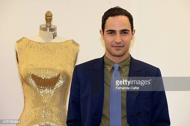 Zac Posen poses at the Zac Posen Resort 2016 Presentation on June 3, 2015 in New York City.
