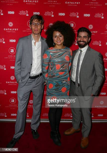 Zac Ray Jade Doherty and Fred Salgin attend the Catalyst Content Awards Gala on October 13 2019 in Duluth Minnesota