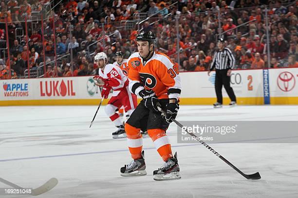 Zac Rinaldo of the Philadelphia Flyers skates against the Detroit Red Wings on March 6 2012 at the Wells Fargo Center in Philadelphia Pennsylvania