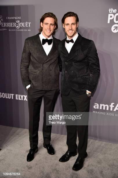 Zac Stenmark and Jordan Stenmark attend the amfAR New York Gala 2019 at Cipriani Wall Street on February 6, 2019 in New York City.