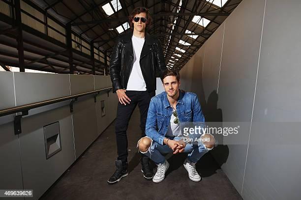 Zac Stenmark wears Belstaff jacket, Basic T-shirt , Calvin Klein jeans and Lavin shoes and Jordan Stenmark wears Jacket, T-shirt and Jeans by Calvin...