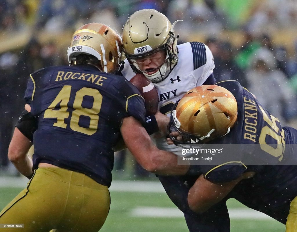 Navy v Notre Dame : News Photo