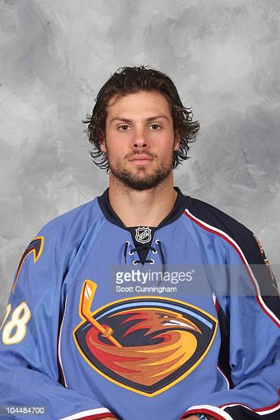 Zach Bogosian of the Atlanta Thrashers poses for his official headshot for the 20102011 NHL season on September 17 2010 in Atlanta Georgia