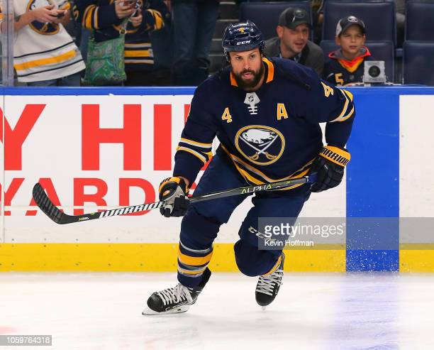 Zach Bogosian of the Buffalo Sabres before the game against the Montreal Canadiens on October 25 2018 in Buffalo New York