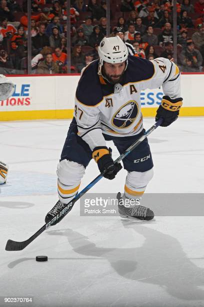 Zach Bogosian of the Buffalo Sabres in action against the Philadelphia Flyers at Wells Fargo Center on January 7 2018 in Philadelphia Pennsylvania