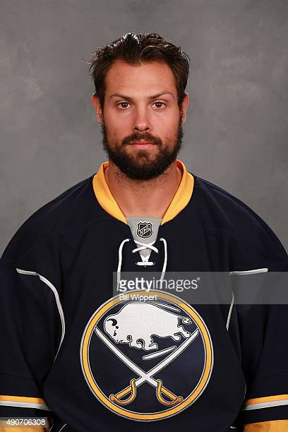 Zach Bogosian of the Buffalo Sabres poses for his official headshot for the 20152016 season on September 17 2015 at the First Niagara Center in...