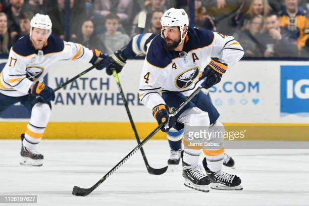 Zach Bogosian of the Buffalo Sabres skates against the Columbus Blue Jackets on January 29 2019 at Nationwide Arena in Columbus Ohio