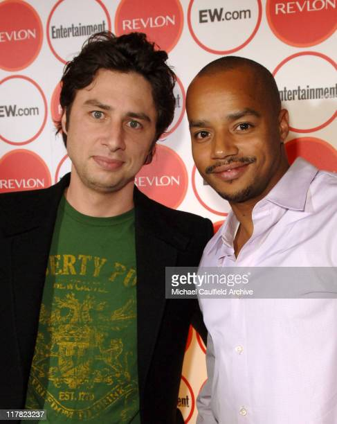 Zach Braff and Donald Faison during Entertainment Weekly Magazine 4th Annual Pre-Emmy Party - Red Carpet at Republic in Los Angeles, California,...