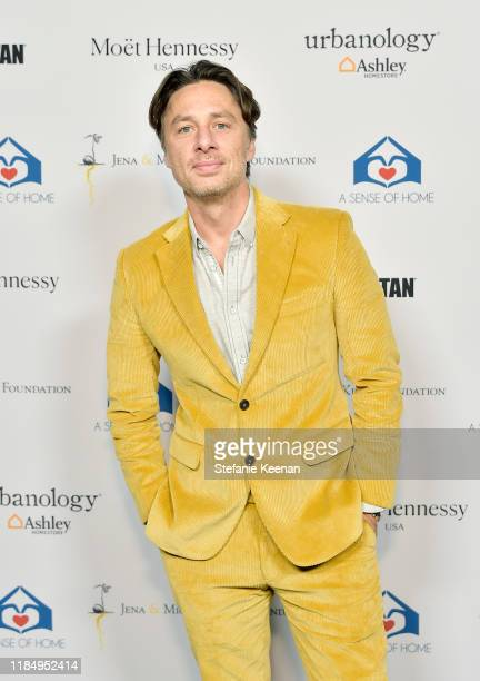 Zach Braff attends A Sense Of Home's First Ever Annual Gala - The Backyard Bowl at a Private Residence on November 01, 2019 in Beverly Hills,...
