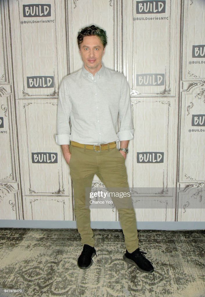 Zach Braff attends Build series to discuss 'alex, inc.' at Build Studio on April 4, 2018 in New York City.
