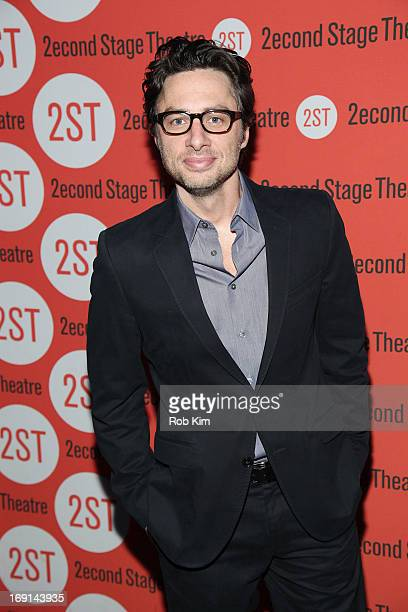 Zach Braff attends Second Stage Theatre's Spring Gala at Best Buy Theater on May 20 2013 in New York City