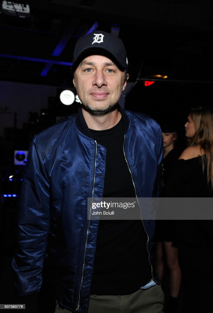 Zach Braff attends Spotify's 'Louder Together' event celebrating the first ever collaborative Spotify single with Sasha Sloan, Nina Nesbitt and Charlotte Lawrence at Resident DTLA on March 24, 2018 in Los Angeles, California.