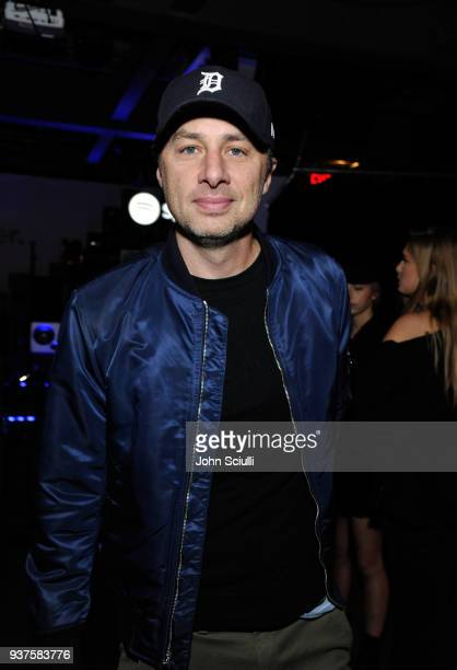 Zach Braff attends Spotify's 'Louder Together' event celebrating the first ever collaborative Spotify single with Sasha Sloan Nina Nesbitt and...
