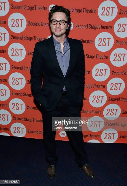 Zach Braff attends the 2013 Second Stage Theatre Spring Gala at Best Buy Theater on May 20 2013 in New York City