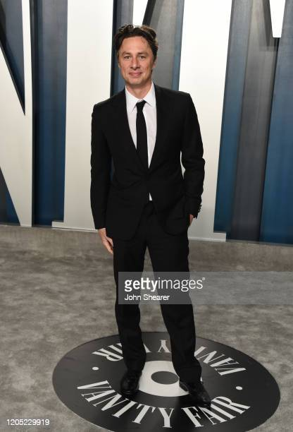 Zach Braff attends the 2020 Vanity Fair Oscar Party hosted by Radhika Jones at Wallis Annenberg Center for the Performing Arts on February 09, 2020...