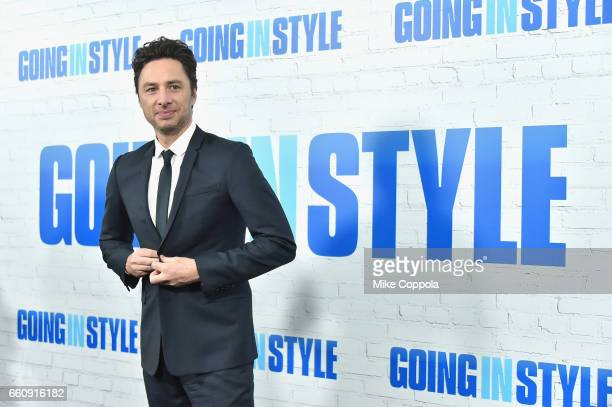 Zach Braff attends the 'Going In Style' New York Premiere at SVA Theatre on March 30 2017 in New York City