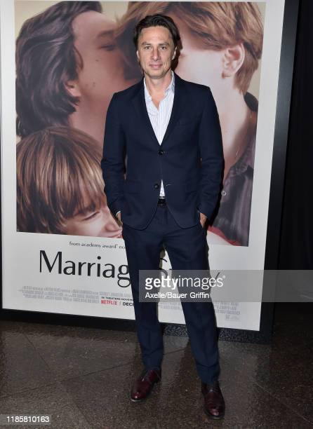 """Zach Braff attends the Premiere of Netflix's """"Marriage Story"""" at DGA Theater on November 05, 2019 in Los Angeles, California."""