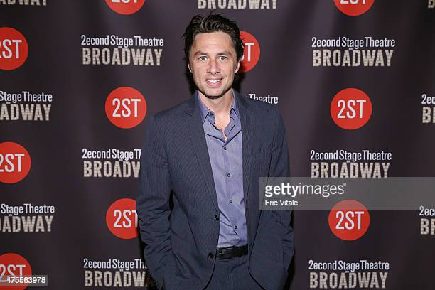 Zach Braff attends the Second Stage 36th Anniversary Gala at 583 Park Avenue on June 1 2015 in New York City