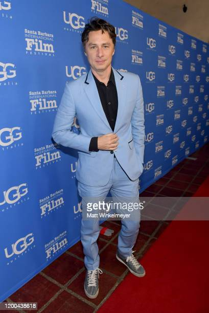 Zach Braff attends the Virtuosos Award presentation during the 35th Santa Barbara International Film Festival at Arlington Theatre on January 18,...