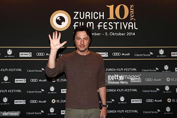 Zach Braff attends the 'Wish I Was Here' Press Conference during Day 2 of Zurich Film Festival 2014 on September 26 2014 in Zurich Switzerland