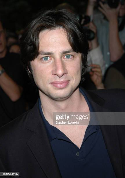 """Zach Braff during """"Garden State"""" New York Premiere - Outside Arrivals at Chelsea Clearview Cinemas in New York City, New York, United States."""