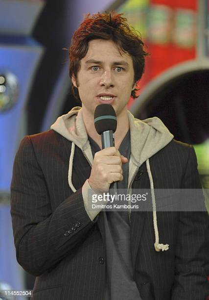 "Zach Braff during Zach Braff and James Lafferty Visit MTV's ""TRL"" - October 26, 2005 at MTV Studios in New York City, New York, United States."