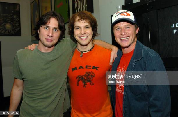 Zach Braff Gavin DeGraw and Billy Bush during Gavin DeGraw Performs at Joes Pub July 26 2004 at Joes Pub in New York City New York United States