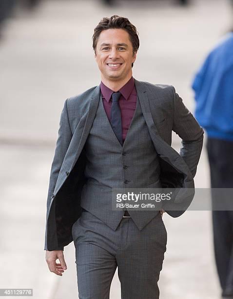 Zach Braff is seen in Hollywood on June 23, 2014 in Los Angeles, California.